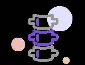 척추 모형 아이콘